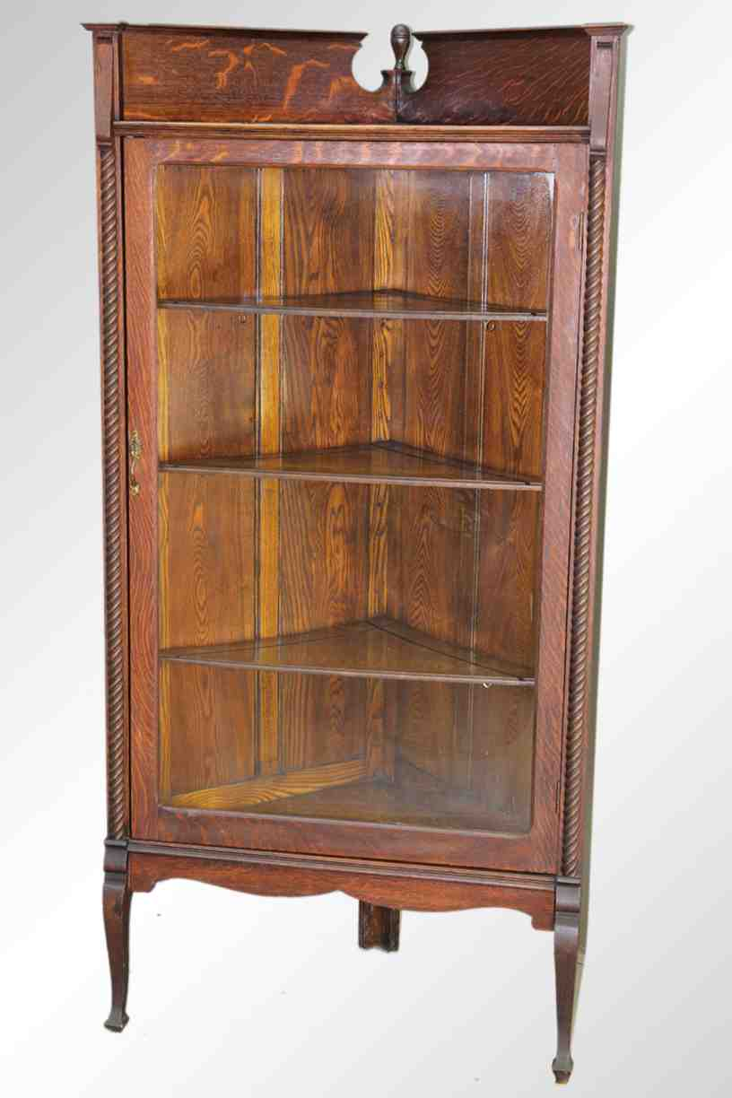 Oak Corner China Cabinet Home Furniture Design