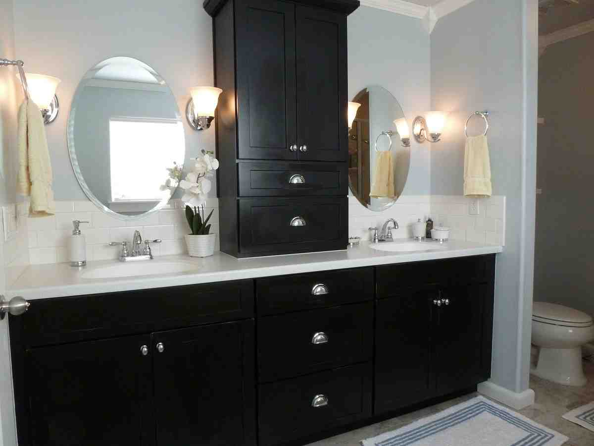 painting bathroom cabinets black - home furniture design