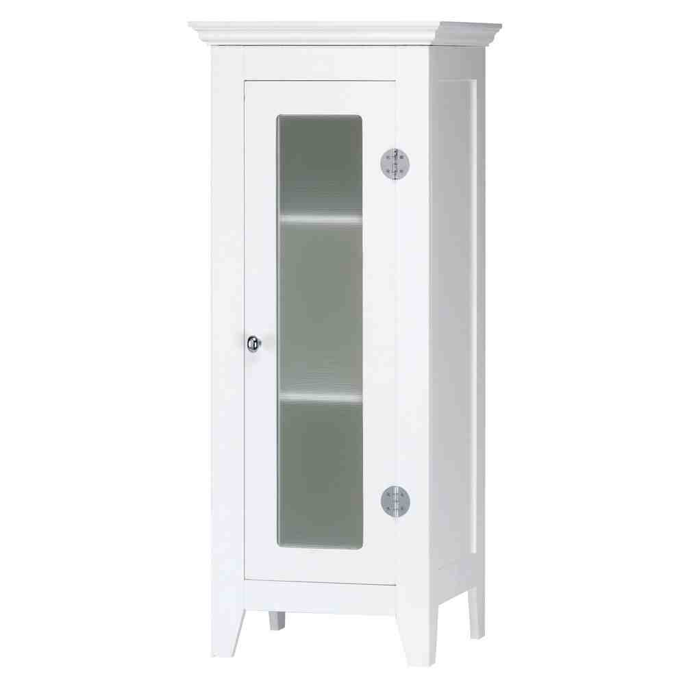 Small white bathroom floor cabinet home furniture design for Low bathroom cabinet