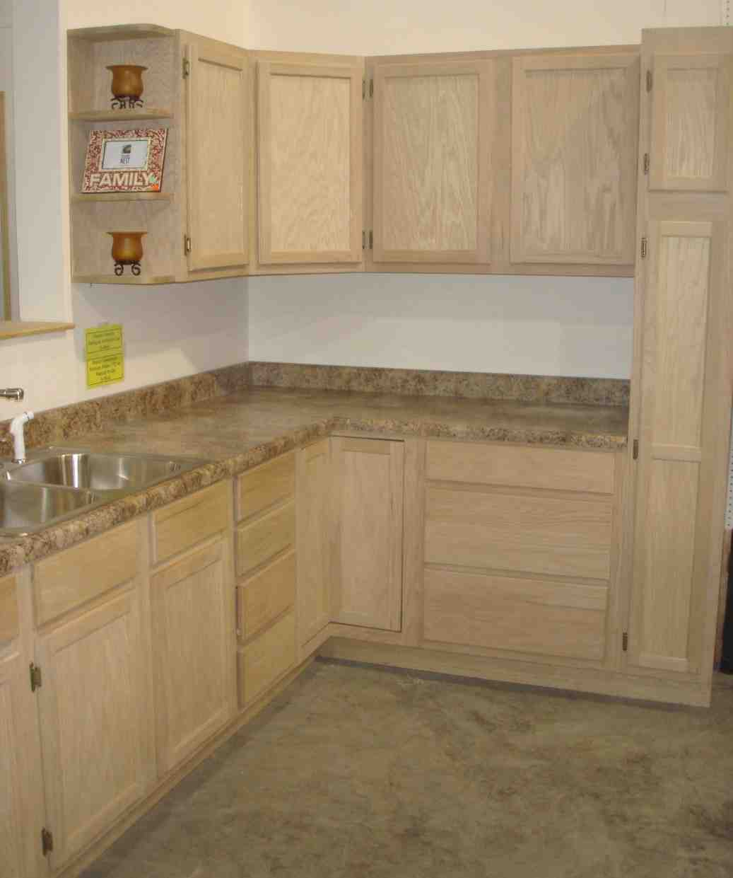 Unfinished maple kitchen cabinets home furniture design for Unfinished wood bathroom cabinets
