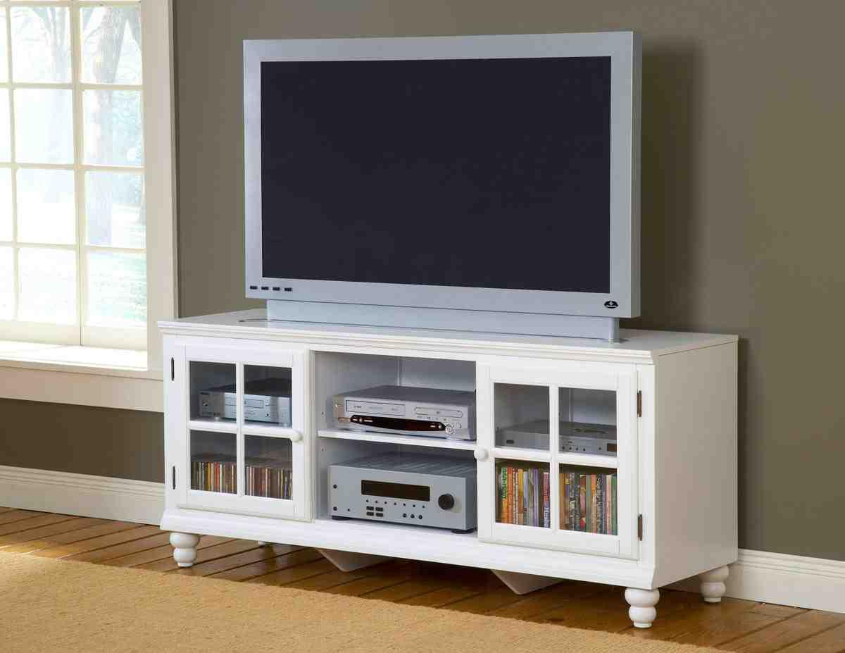 White Entertainment Cabinet - Home Furniture Design