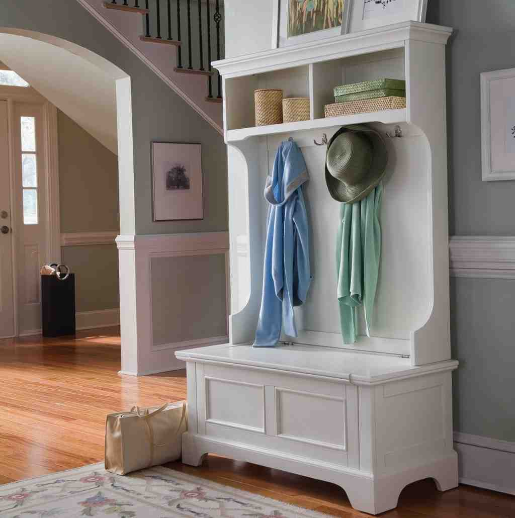 White Hall Tree Storage Bench Home Furniture Design