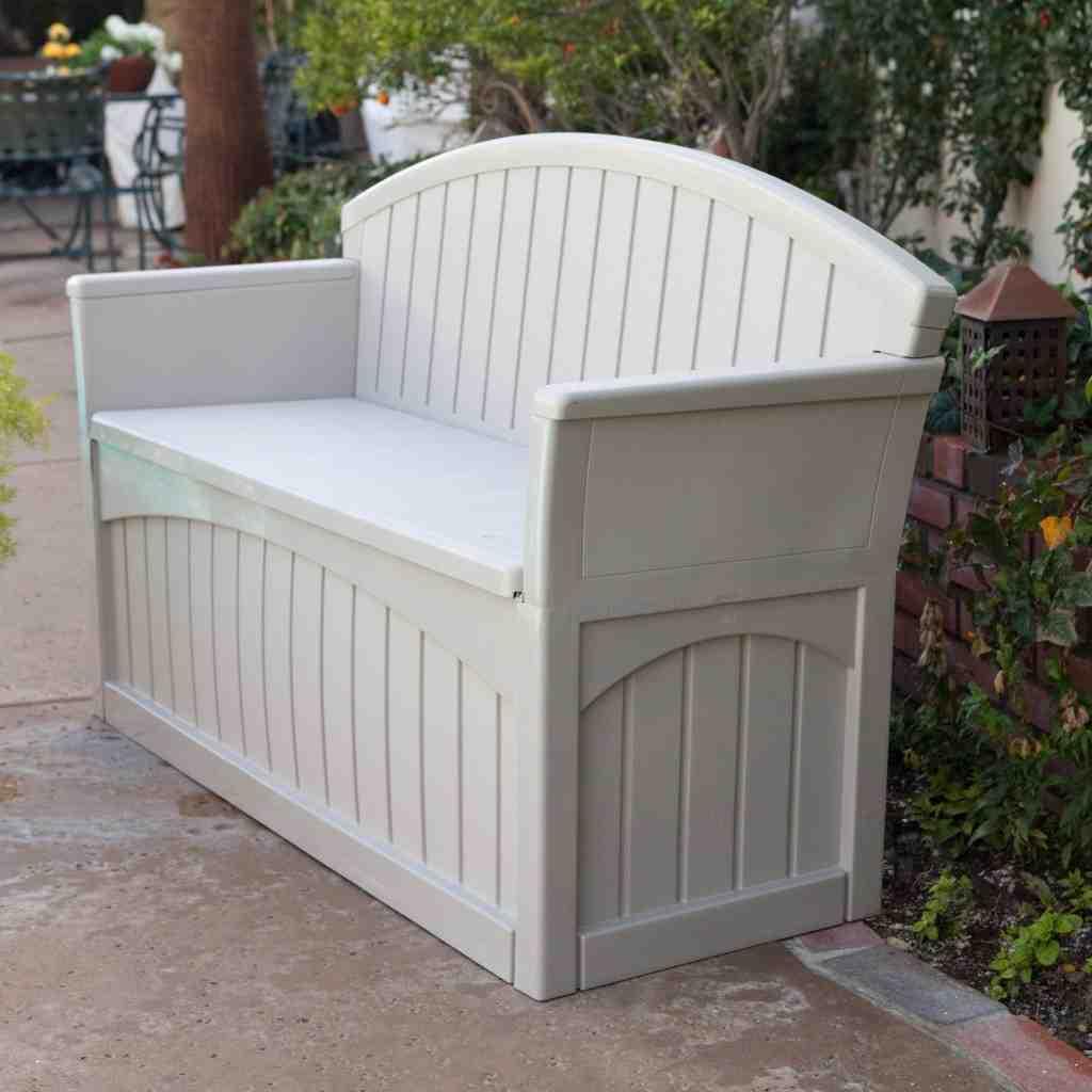 White Outdoor Storage Bench Home Furniture Design