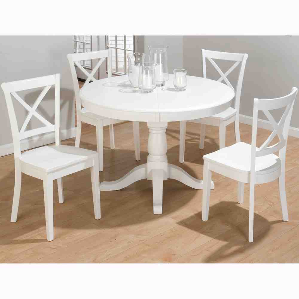 Round White Kitchen Dining Table Modern