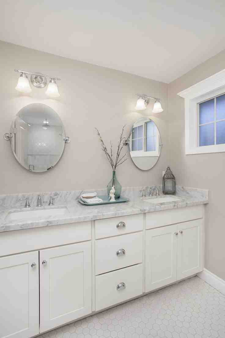 White shaker bathroom cabinets home furniture design for White bathroom furniture