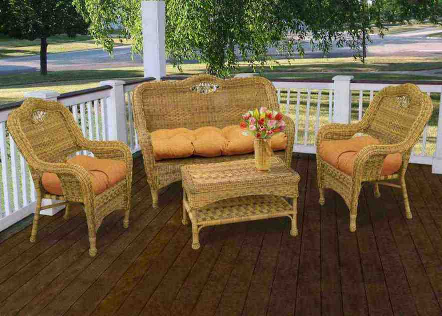 Wicker patio chair cushions home furniture design for Bamboo outdoor furniture