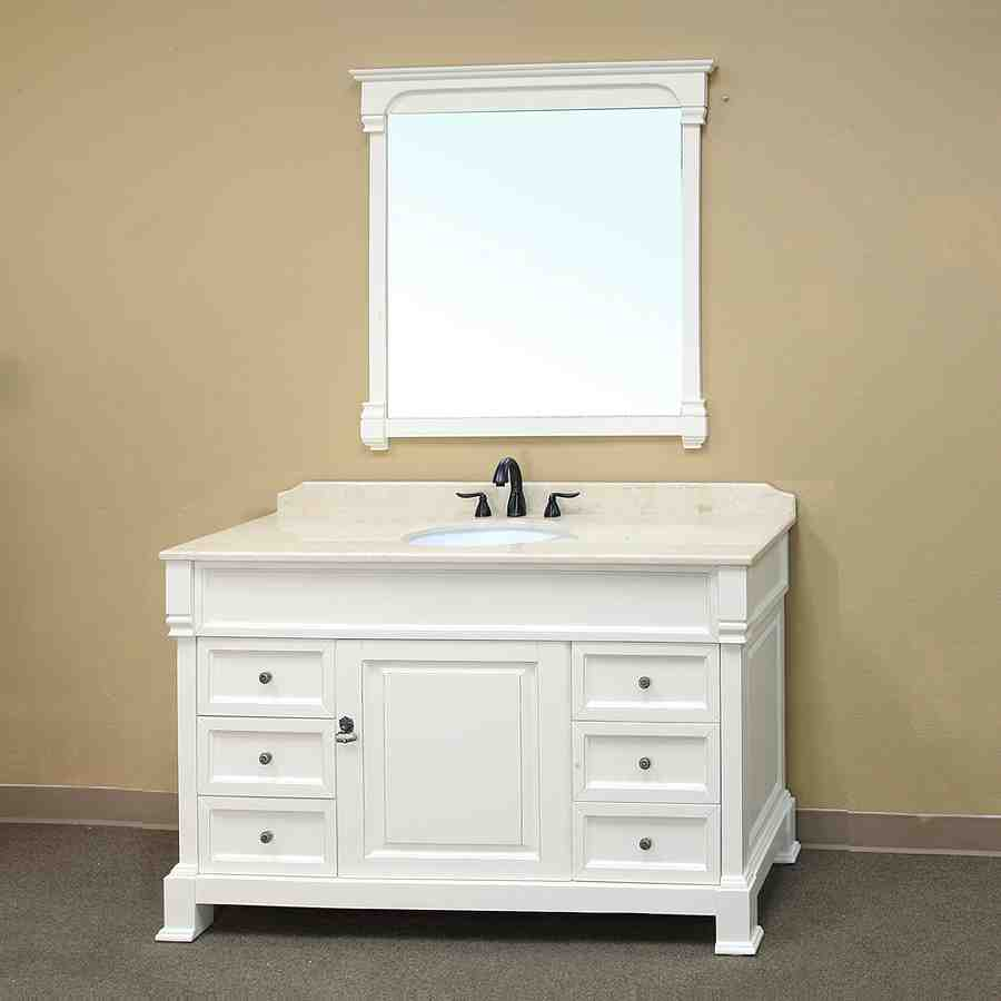 White bathroom cabinet how to paint over a colored or for White bathroom furniture