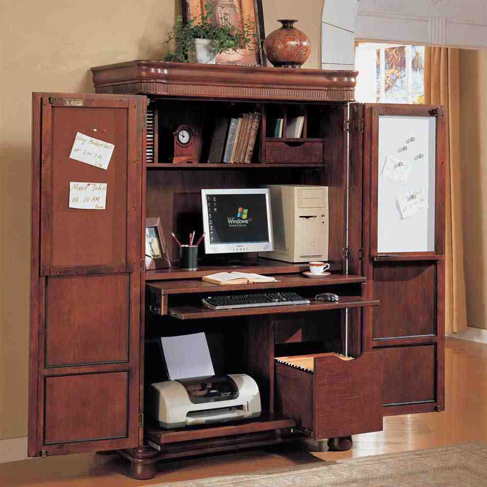 Armoire desk ikea home furniture design for Ikea computer cabinet
