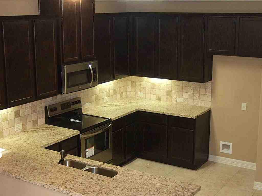 Espresso cabinets with granite home furniture design - Espresso cupboards ...