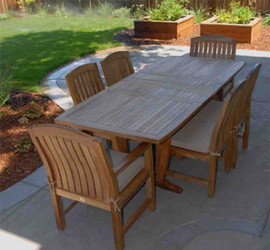 Teak outdoor dining chairs home furniture design for Teak outdoor furniture