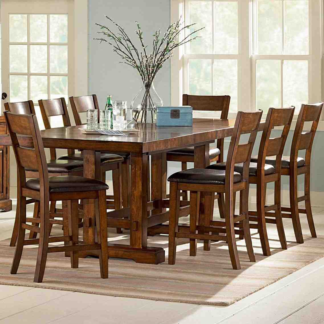 High top dining table with 8 chairs home furniture design for High dining table