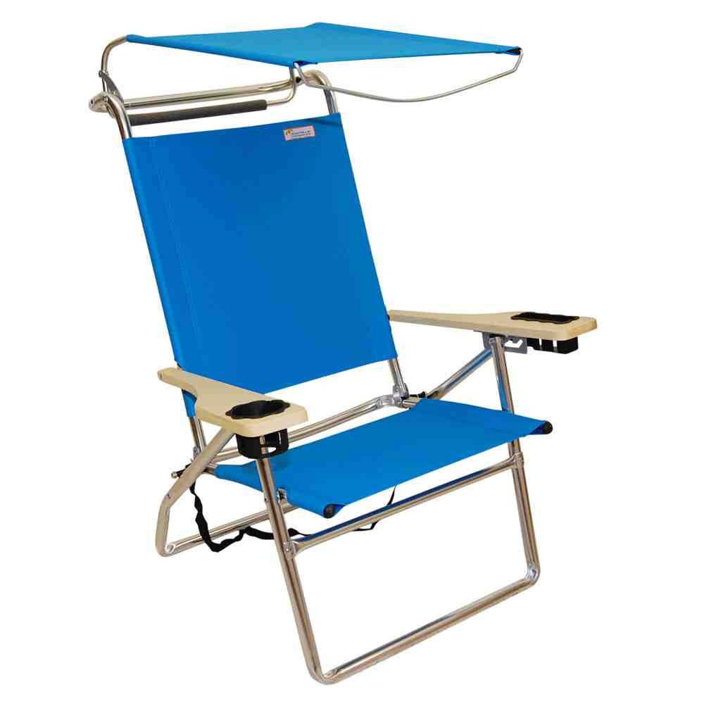 Canopies And Chairs : Reclining beach chair with canopy home furniture design