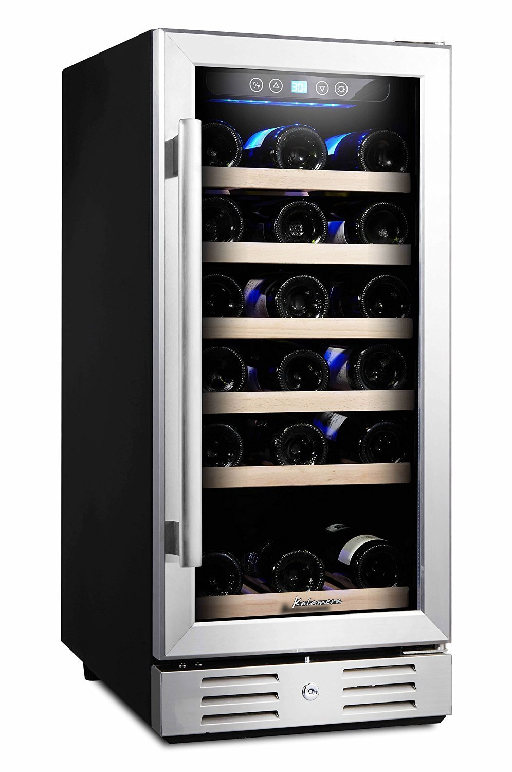 15 wine cooler home furniture design for Modern homes 8 bottle wine cooler