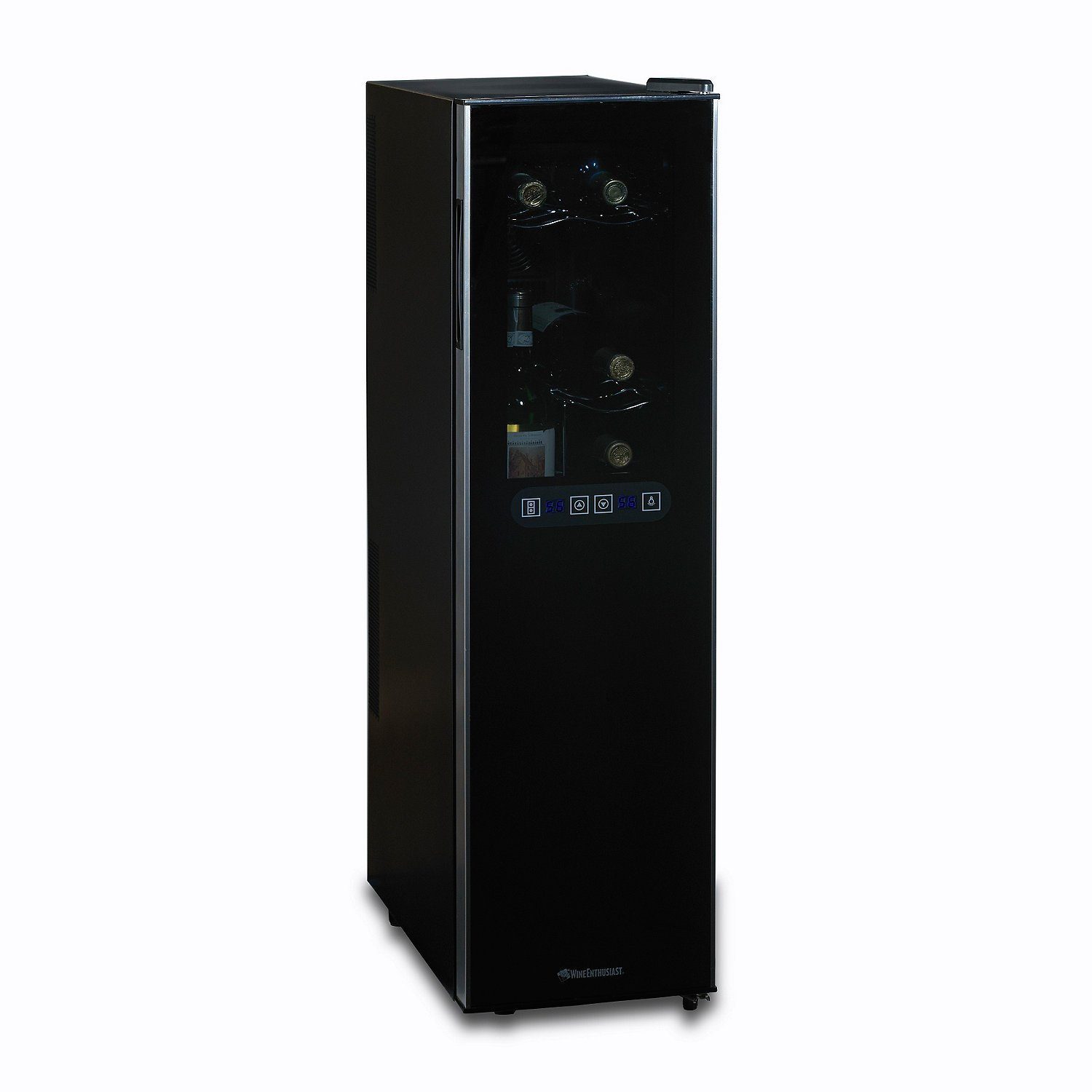 18 bottle dual zone wine cooler home furniture design for Modern homes 8 bottle wine cooler