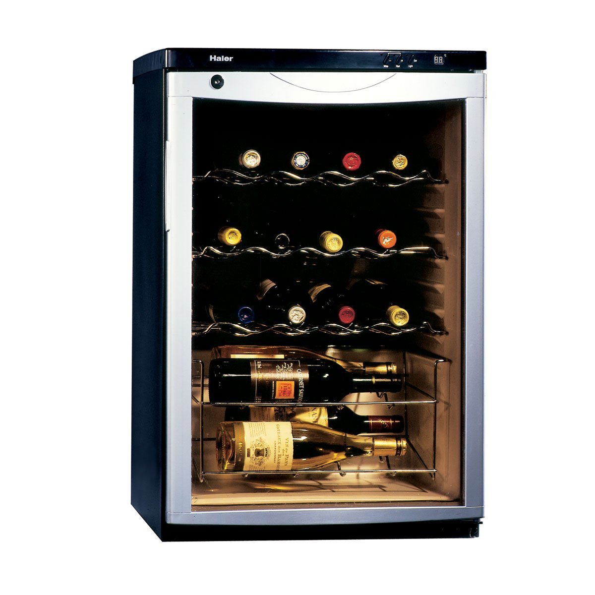 Modern single door designs with glass for Modern homes 8 bottle wine cooler