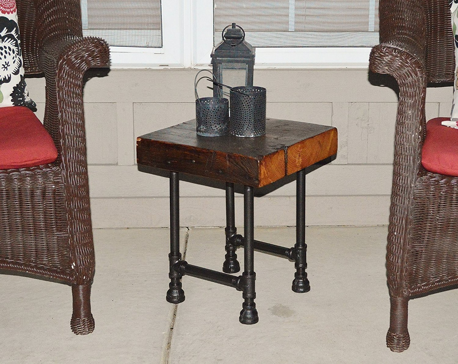 Wooden Couch End Tables ~ Barn wood end tables home furniture design