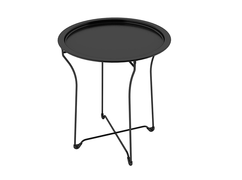 Black Metal End Table Home Furniture Design