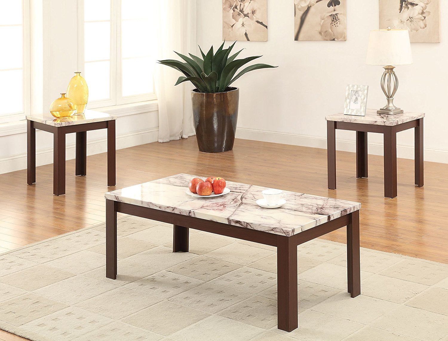 Coffee table and end table set home furniture design Side table and coffee table set