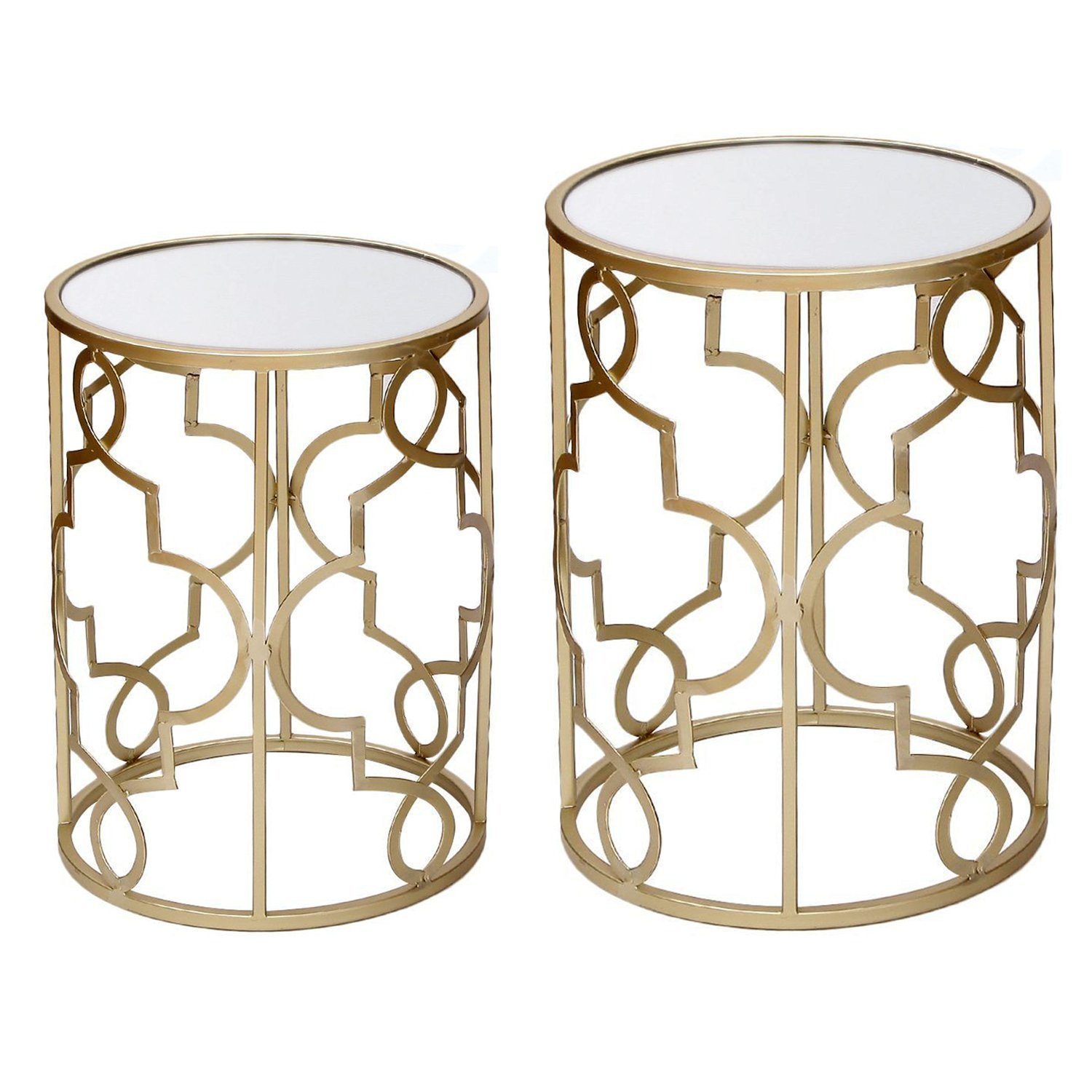 Metal End Tables ~ Gold metal end table home furniture design
