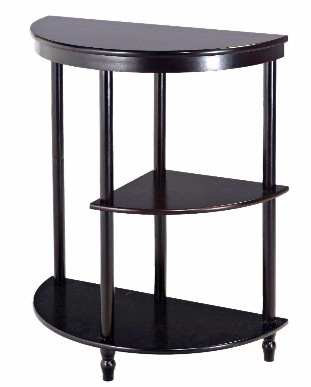 half circle end table home furniture design. Black Bedroom Furniture Sets. Home Design Ideas