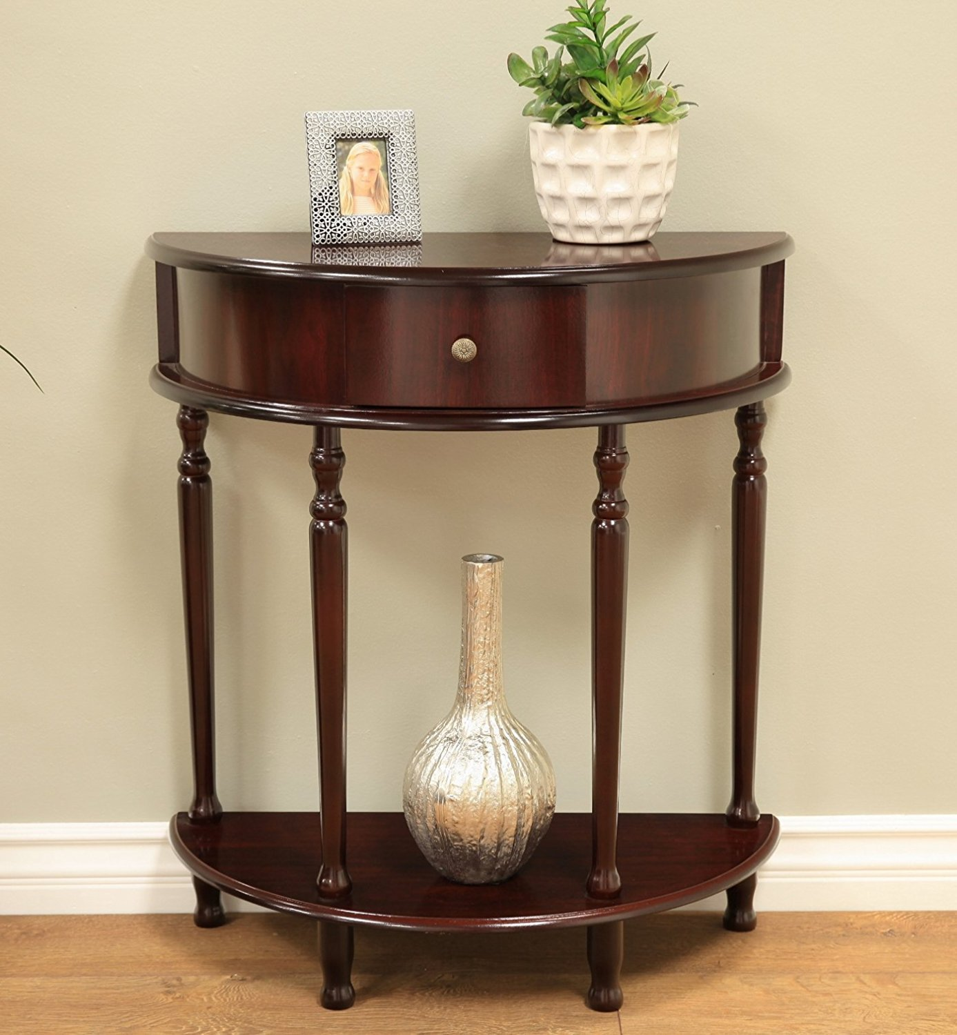 Great end tables write up which is classed within half round table and