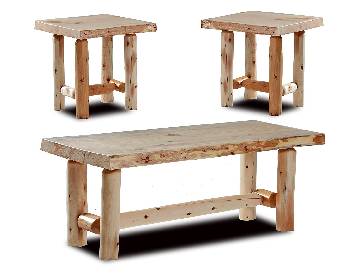 Live edge end table home furniture design for Coffee table at end of bed