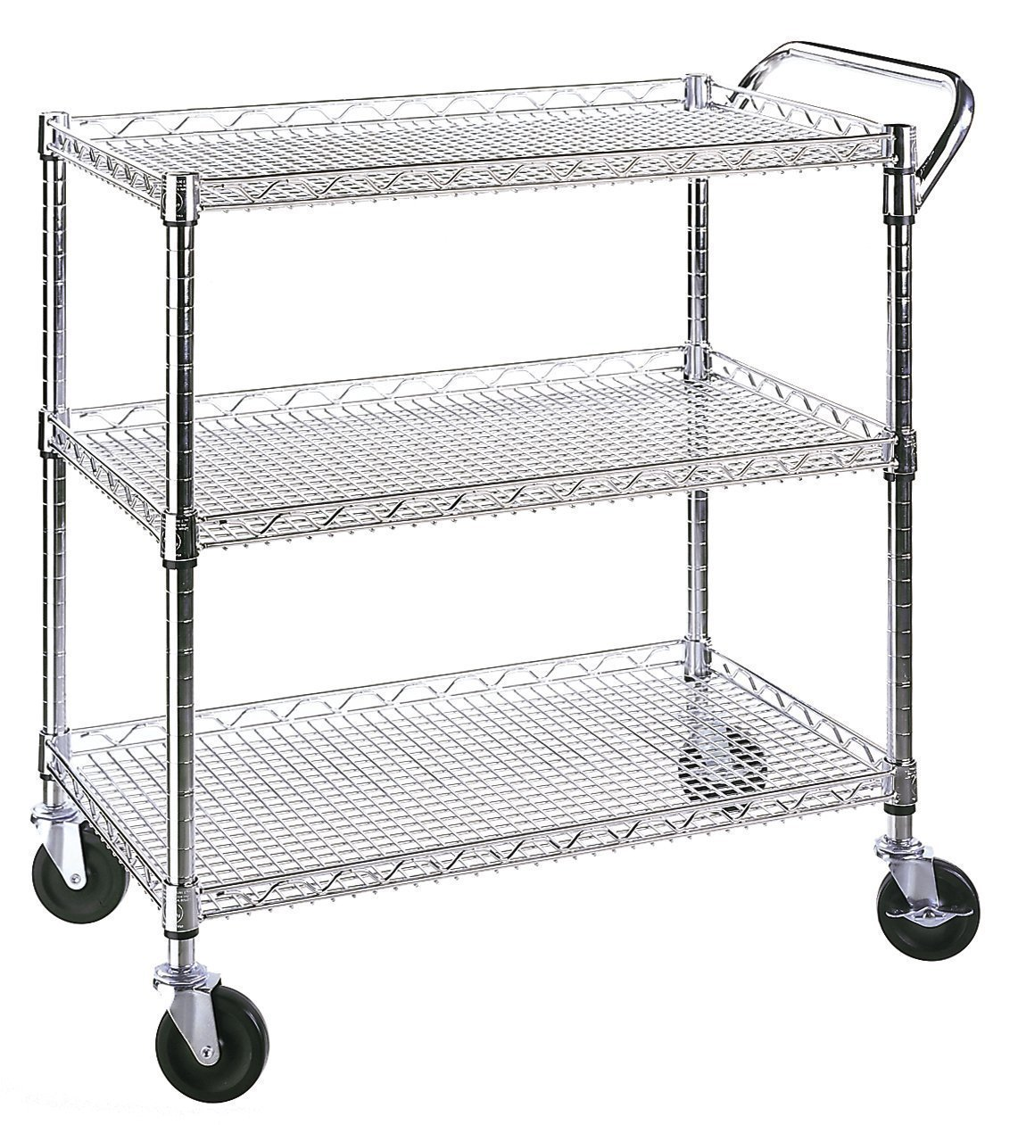 Metal Utility Cart With Wheels Home Furniture Design