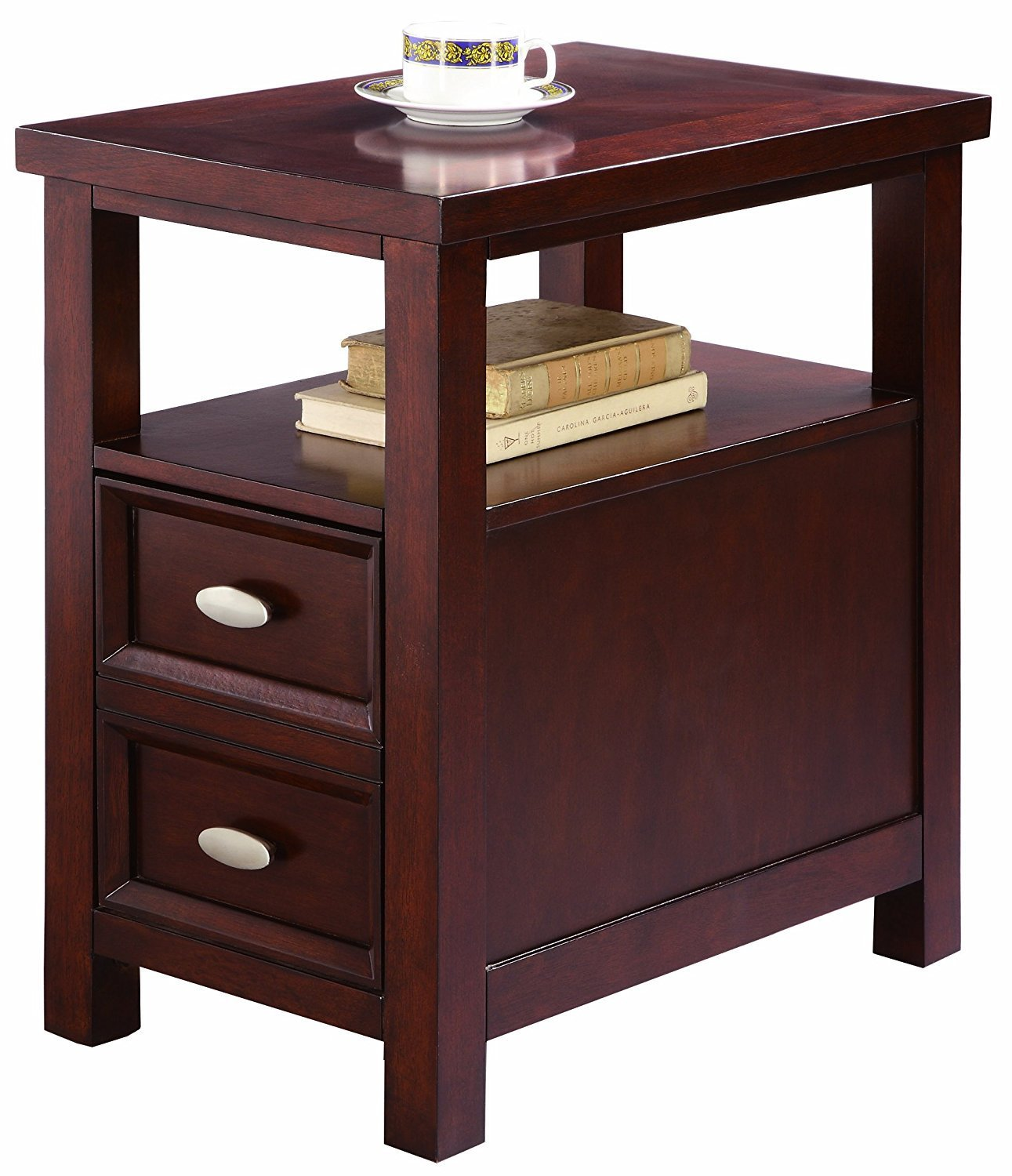 Narrow End Table With Drawers Home Furniture Design