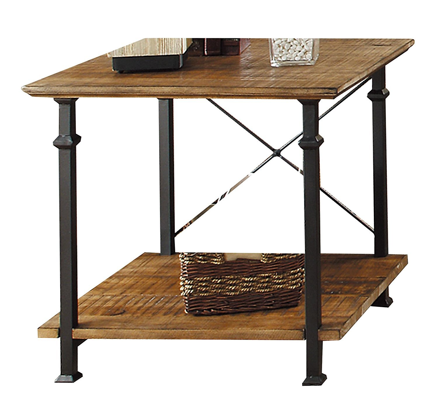 Rustic x end table home furniture design for Side table design