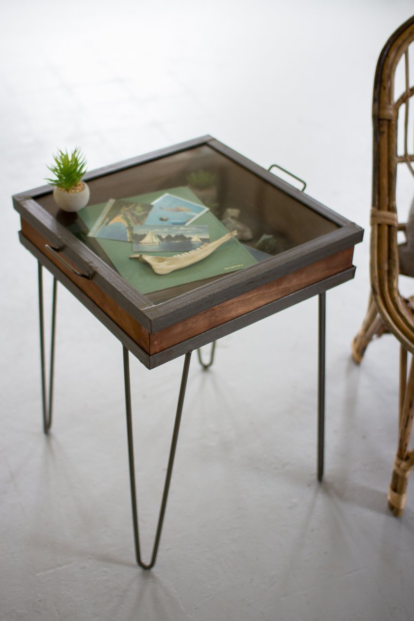Shadow box end table home furniture design for Box table design