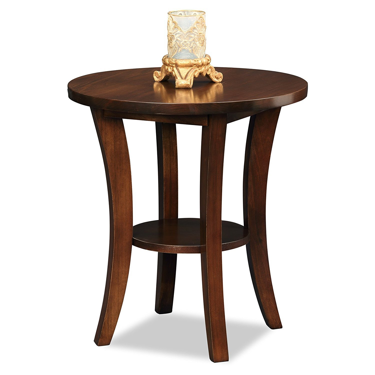 Wood round end table home furniture design