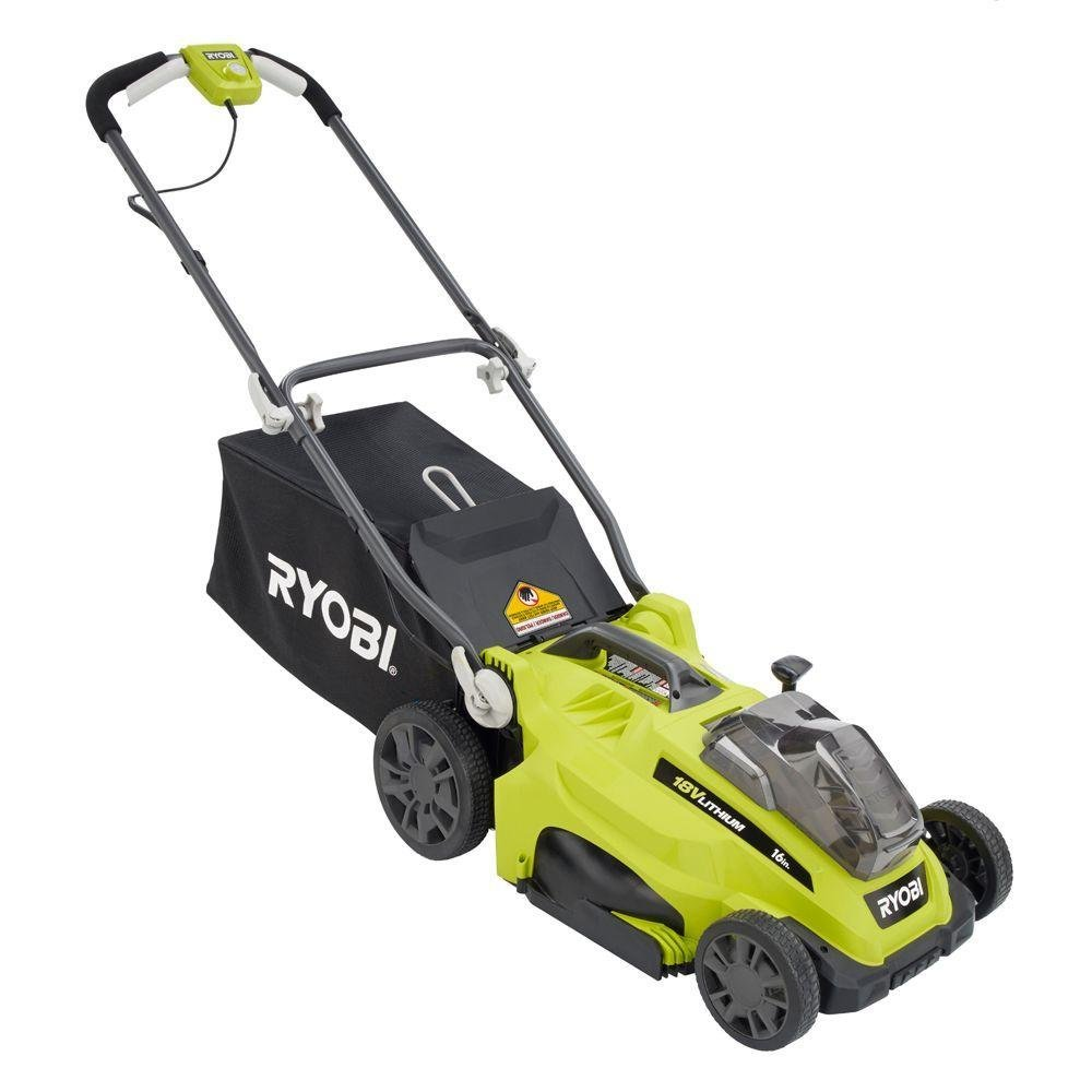 Ryobi cordless lawn mower home furniture design for Depot moers