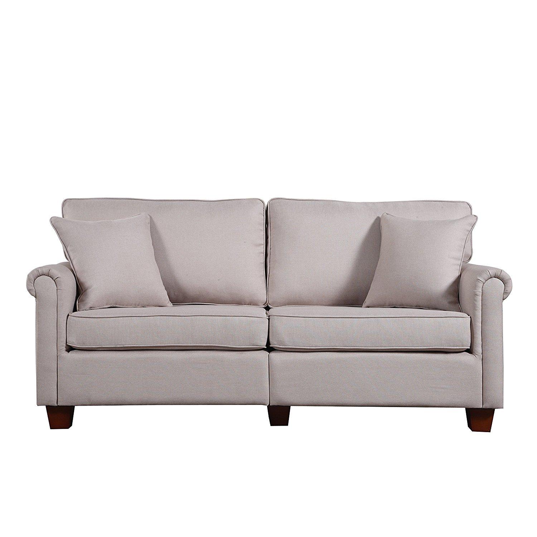 Beige Sofa Living Room Home Furniture Design