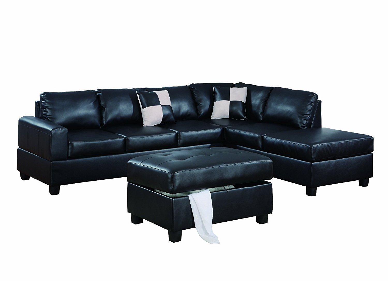 Black L Shaped Couch Home Furniture Design