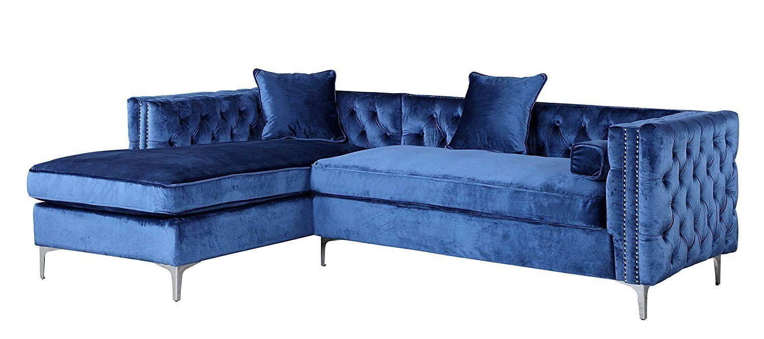 Blue Sectional Sofa With Chaise Home Furniture Design