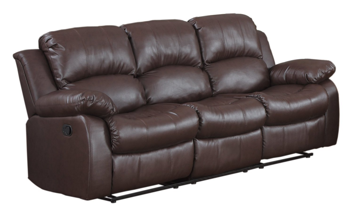 Brown Leather Couch Home Furniture Design
