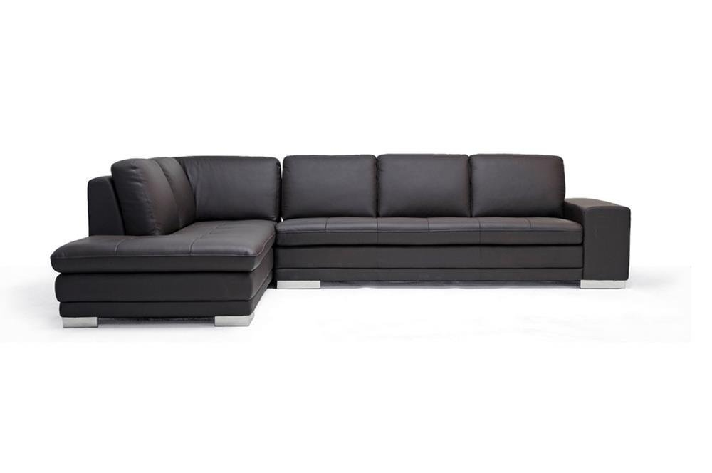 Brown Leather Sectional Couch - Home Furniture Design