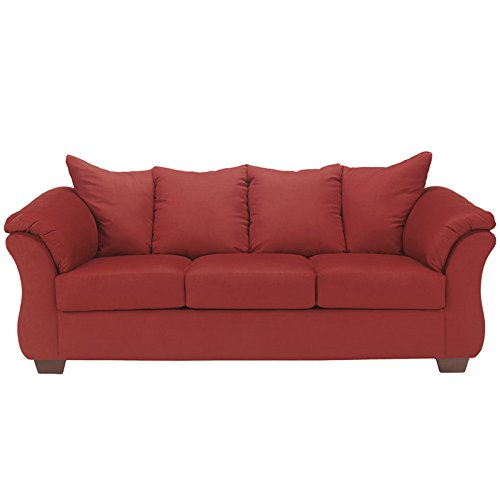 Red Sofa Living Room Home Furniture Design