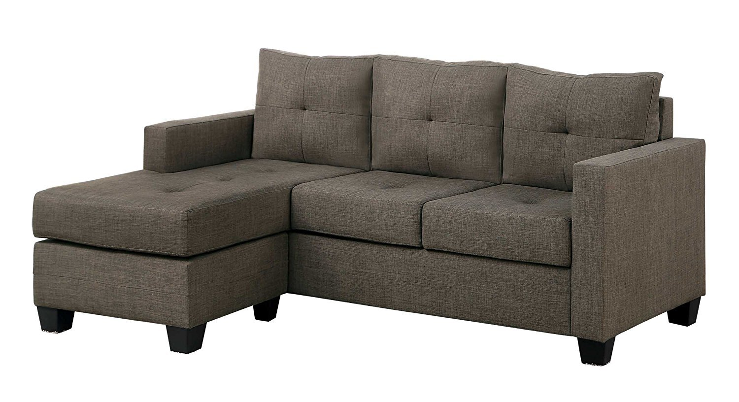 Tufted sectional sofa with chaise home furniture design Chaise design confortable