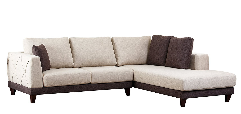 Abbyson Living Juliette Fabric Sectional Sofa Home
