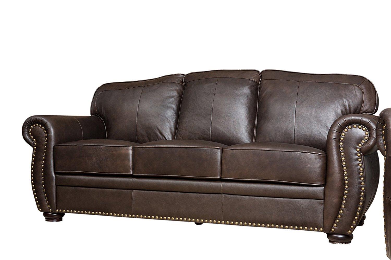 Abbyson Palaza Leather Sofa Home Furniture Design