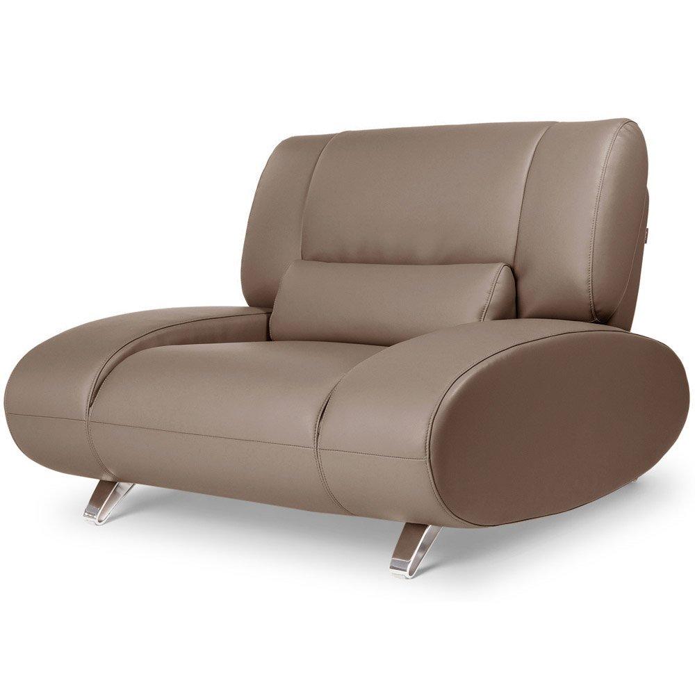 Brown Aspen Leather Sofa Set Home Furniture Design