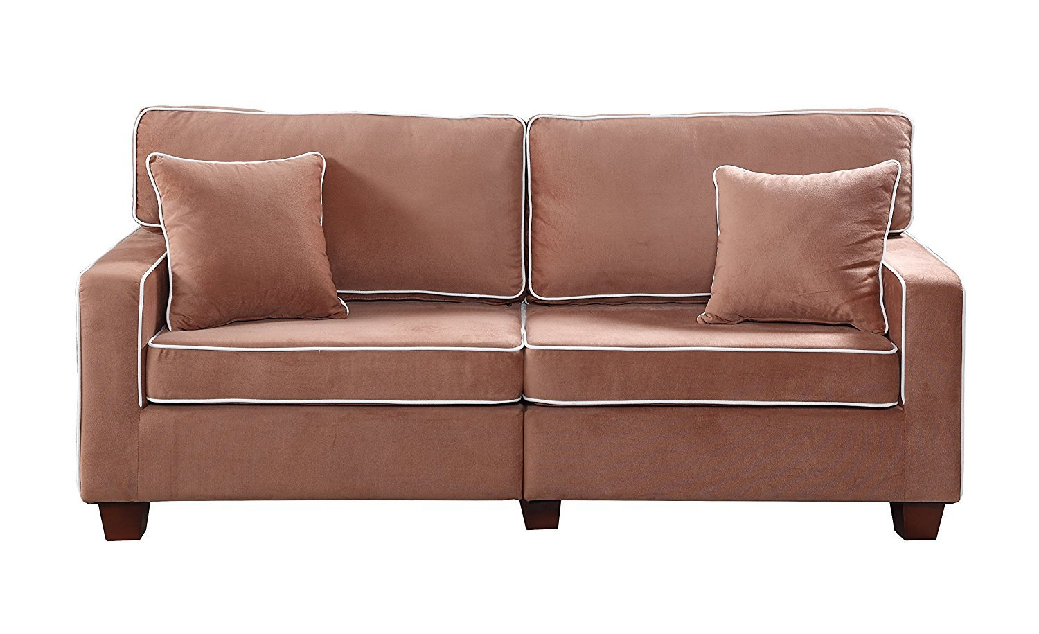 Divano Roma Furniture Collection Modern Two Tone Velvet
