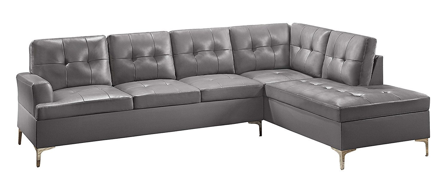 Homelegance 2 Piece Tufted Accent Sectional Sofa Home Furniture Design