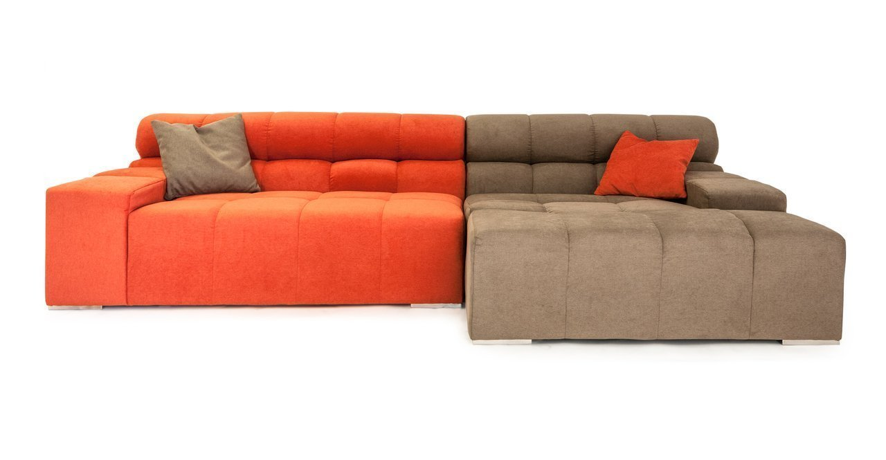 Kardiel cubix modern modular right sectional sofa home for Comfortable contemporary sectional sofa