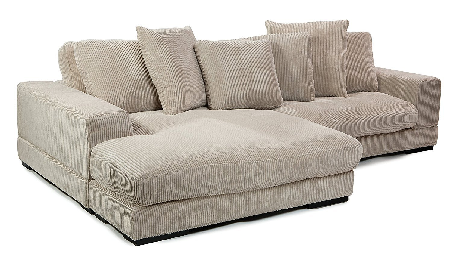 Moe S Home Collection Plunge Reversible Sectional Sofa