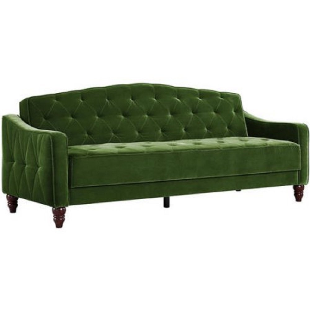 Novogratz Vintage Tufted Sofa Sleeper Home Furniture Design