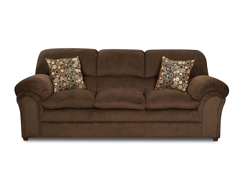 Simmons Upholstery 6150 03 Harper Umber Sofa Home