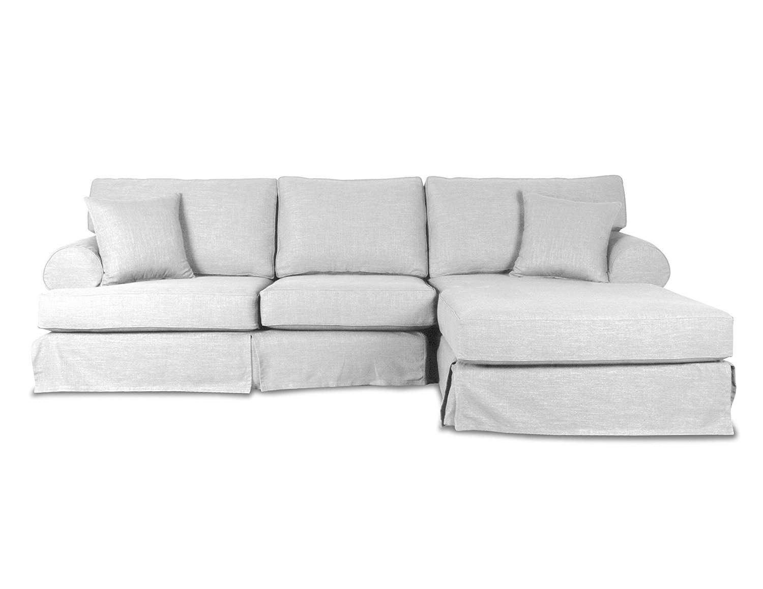 South cone home new york linen right sectional sofa home for Sectional sofa new york
