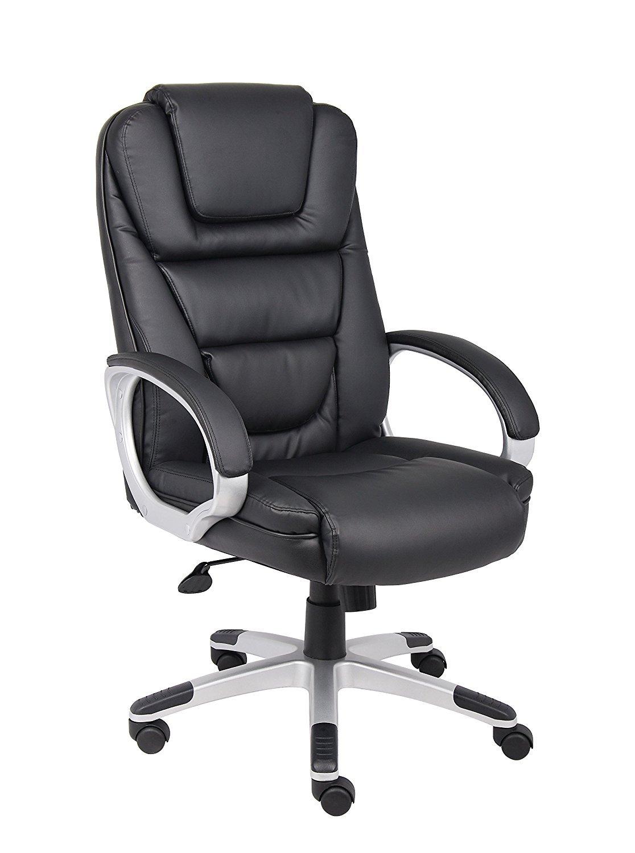 boss black leatherplus executive chair home furniture design. Black Bedroom Furniture Sets. Home Design Ideas